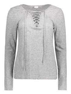Jacqueline de Yong T-shirt JDYZADA L/S LACE TOP JRS 15127312 Light grey melange