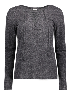 Jacqueline de Yong T-shirt JDYZADA L/S LACE TOP JRS 15127312 Dark grey melange