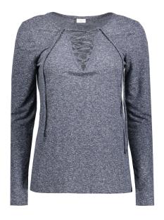 Jacqueline de Yong T-shirt JDYZADA L/S LACE TOP JRS 15127312 Mood indigo
