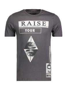 Jack & Jones T-shirt JORSHRED TEE SS CREW NECK 12116878 Asphalt