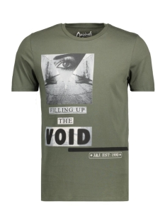 Jack & Jones T-shirt JORSHRED TEE SS CREW NECK 12116878 Thyme