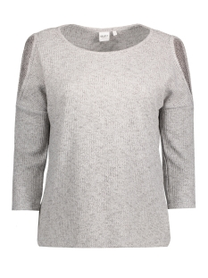 Object T-shirt OBJKASSY 3/4 TOP A PS 23024621 Light grey melange