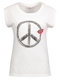 Noisy may T-shirt NMPEACE S/S TOP 10177638 Bright white