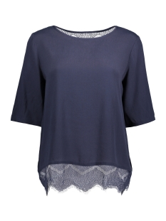 Vila T-shirt VIENTRY LACE 1/2 SLEEVE TOP 14040572 Total Eclipse