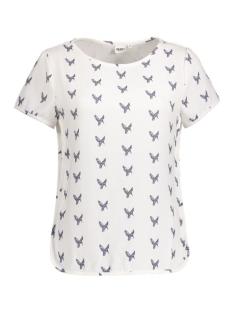 Object T-shirt OBJNILLE S/S TOP A 23021021 Gardenia