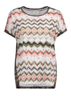 Vero Moda T-shirt VMANE MIE SS MIX PRINT TOP DNM JRS 10174466 Snow White