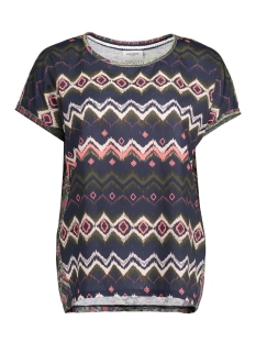 Vero Moda T-shirt VMANE MIE SS MIX PRINT TOP DNM JRS 10174466 Navy Blazer