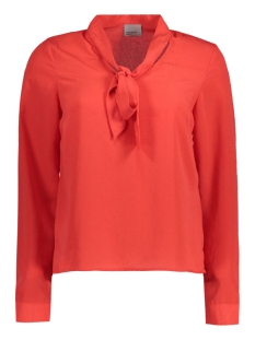 Vero Moda Blouse VMCARO BOW L/S TOP FD NFS 10178607 Poppy Red