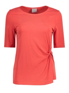 Vero Moda T-shirt VMGREY KNOT 2/4 TOP FD NFS 10178622 Poppy Red