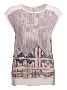 Vero Moda T-shirt VMANE MIX WIDE MIDI TOP DNM 10174478 Peach Whip