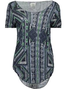 Vero Moda T-shirt VMLUA ANA SS TOP BOX DNM 10174630 Navy Blazer/Ane