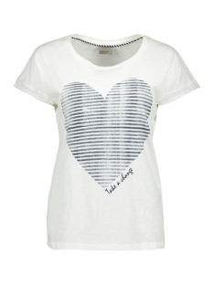 Vero Moda T-shirt VMVALENTINE SS TOP BOX JRS 10174769 Snow White/Take a Cha