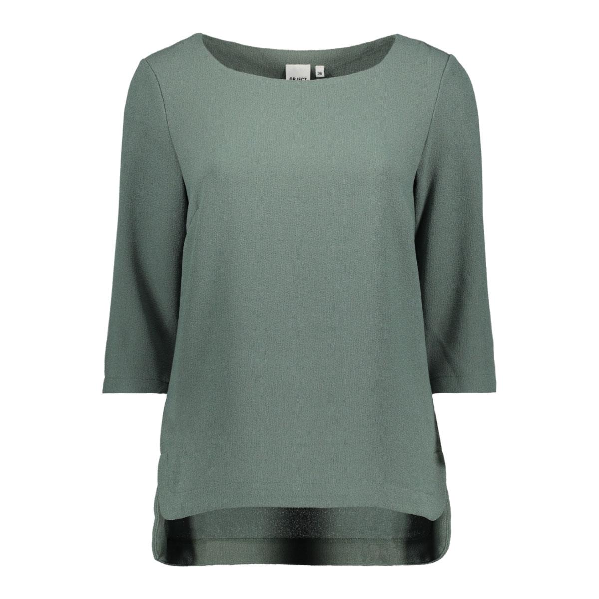 objcorlee 3/4 top noos 23024282 object t-shirt balsam green