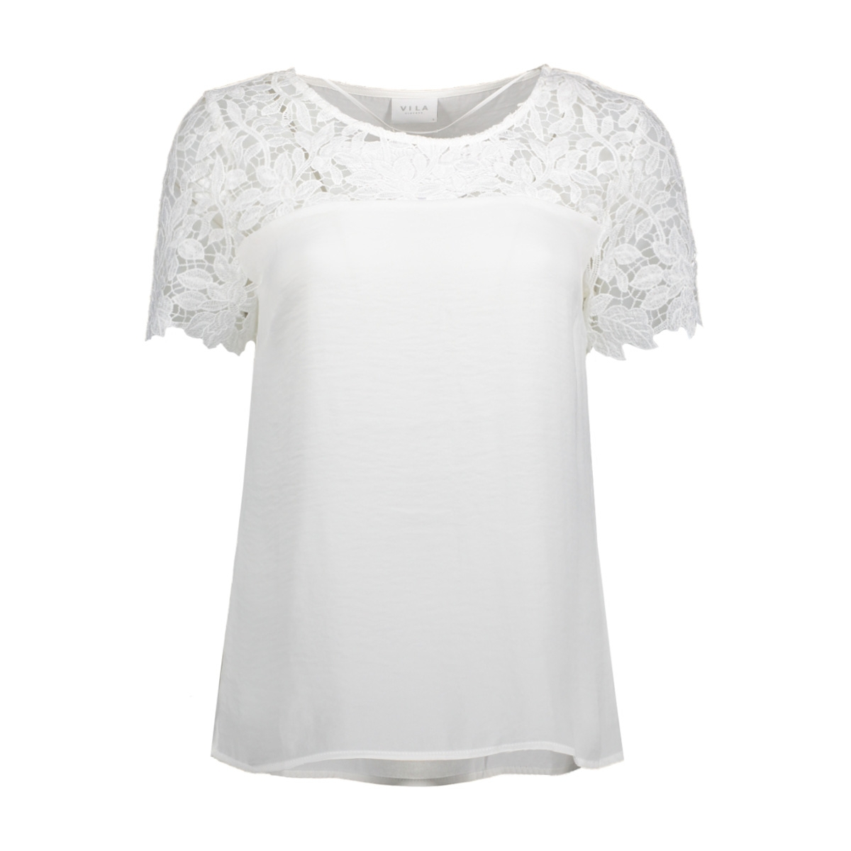 vimelli blocked lace top-noos 14040960 vila t-shirt cloud dancer