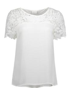 Vila T-shirt VIMELLI BLOCKED LACE TOP-NOOS 14040960 Cloud Dancer