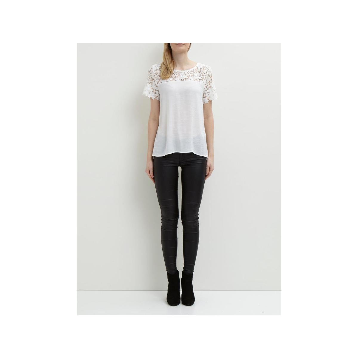 vimelli blocked lace top-noos 14040960 vila t-shirt cloud dancer