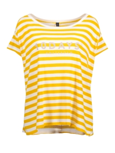 10 Days T-shirt 20-747-7101 WHITE/YELLOW