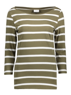 Vila T-shirt VISTRIPED 3/4 SLEEVE TOP-NOOS 14039631 Ivy Green