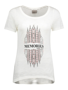 Vero Moda T-shirt VMINGA SS TOP BOX JRS 10174471 Snow White