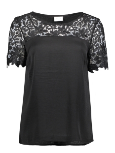 Vila T-shirt VIMELLI BLOCKED LACE TOP-NOOS 14040960 Black