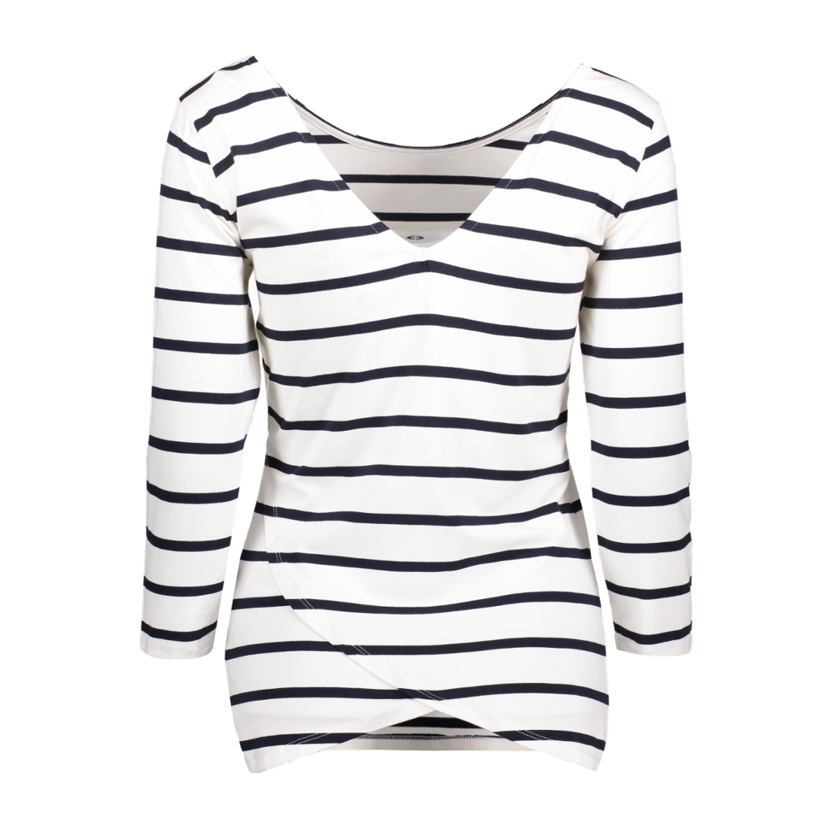 objelona wrap 3/4 top noos 23023663 object t-shirt white