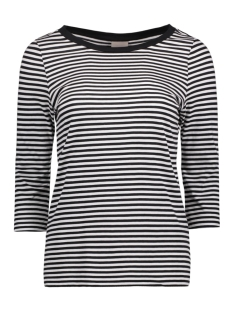 Vero Moda T-shirt VMMARLEY STRIPE 3/4 TOP NOOS 10170356 Snow White/ Black