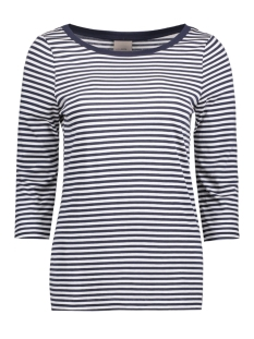 Vero Moda T-shirt VMMARLEY STRIPE 3/4 TOP NOOS 10170356 Snow White/ Black Iris
