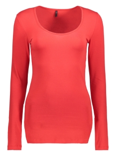 Only T-shirt LIVE LOVE LONG O-NECK LS TOP NOOS 15060054 High Risk Red