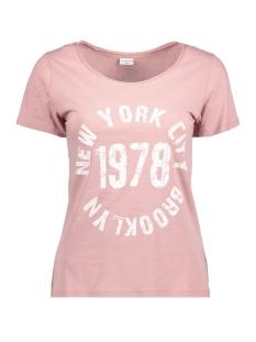 Jacqueline de Yong T-shirt JDYSPARKLE S/S PRINT TOP 02 JRS 15126211 Woodrose/Brooklyn