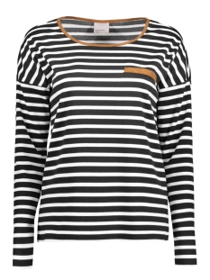 Vero Moda Sweater VMMARINE STRIPE LS TOP JRS 10174155 Snow White/ Black W Br