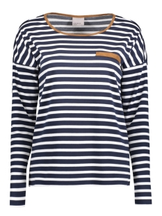 VMMARINE STRIPE LS TOP JRS 10174155 Navy Blazer/ snow White