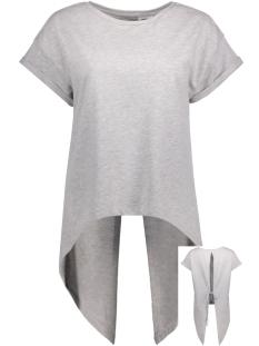 NMJESSI S/S HIGH LOW SWEAT 4X 10180038 Light Grey Melange