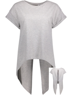 Noisy may T-shirt NMJESSI S/S HIGH LOW SWEAT 4X 10180038 Light Grey Melange