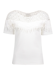 Vila T-shirt VITINNY CHROCHET TOP 14041130 Snow White