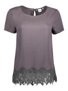 Object T-shirt OBJKATHRINE S/S TOP 89 23024280 Asphalt