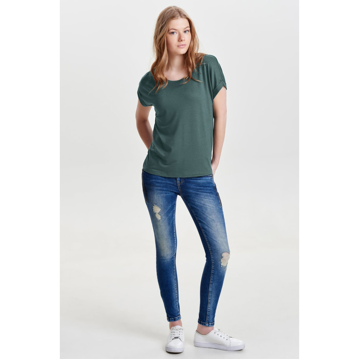 onlmoster s/s o-neck top noos jrs 15106662 only t-shirt balsam green