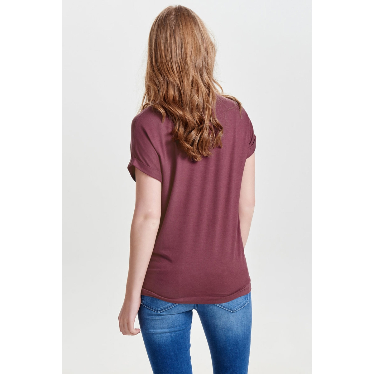 onlmoster s/s o-neck top noos jrs 15106662 only t-shirt wild ginger