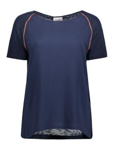 Vero Moda T-shirt VMTAPER S/S MIDI TOP DNM A 10175609 Navy Blazer