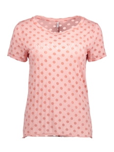Only T-shirt onlMIRA S/S TOP BOX ESS 15132402 Rose Dawn/Burnout Do
