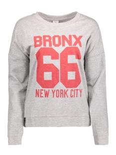 Jacqueline de Yong Sweater JDYHIGH L/S PRINT PULLOVER JRS 15127398 Light Grey Mela/Bronx