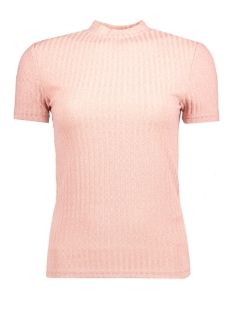 Jacqueline de Yong T-shirt JDYMEI S/S RIB TOP JRS 15133508 Woodrose