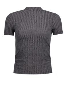 Jacqueline de Yong T-shirt JDYMEI S/S RIB TOP JRS 15133508 Dark Grey Melange