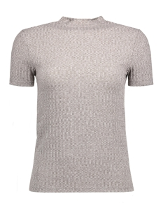 Jacqueline de Yong T-shirt JDYMEI S/S RIB TOP JRS 15133508 Light Grey Melange