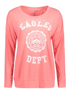 Only T-shirt onlEAGLE L/S TOP ESS 15136414 Calypso Coral