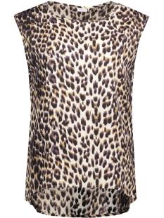 Jacqueline de Yong T-shirt JDYLEELA TANK TOP WVN 15134876 White Alyssum/ Leo