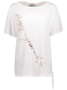 Vero Moda T-shirt VMCAMILLE SS KNOT TOP JRS LOCAL 10175129 Snow White
