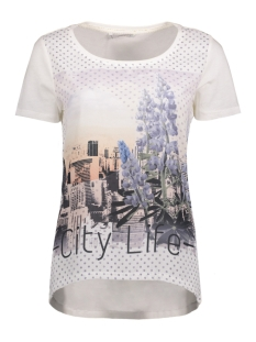 Only T-shirt onlRHINA S/S ROSE/CITY TOP BOX ESS 15133534 Cloud Dancer/City