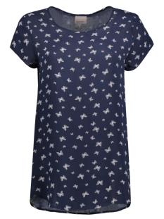 Vero Moda T-shirt VMBOCA SS BLOUSE MULTI PRINTED 10132802 Navy Blazer/Butterfly