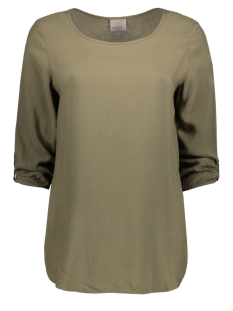 Vero Moda T-shirt BOCA 3/4 FOLD UP BLOUSE COLOR 10122940 Ivy Green
