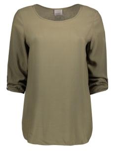 Vero Moda T-shirt BOCA 3/4 FOLD UP BLOUSE COLOR 10122940 Ivy Green